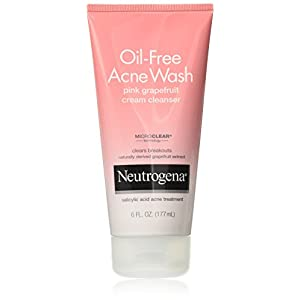 Neutrogena Oil-Free Acne Wash Pink Grapefruit Cream Cleanser, 6 Oz