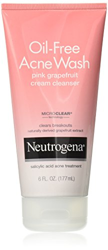 Oil Free Oil (Neutrogena Oil-Free Acne Wash Pink Grapefruit Cream Facial Cleanser, Face Wash with Vitamin C and Salicylic Acid Acne Medicine to Eliminate Dirt and Oil, 6 oz)