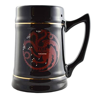 Game of Thrones Collectible Ceramic Stein-House Targaryen, Black