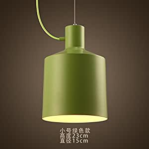 GF_ Creative color chandelier simple fashion Hall Foyer chandelier,Small green 230*150mm