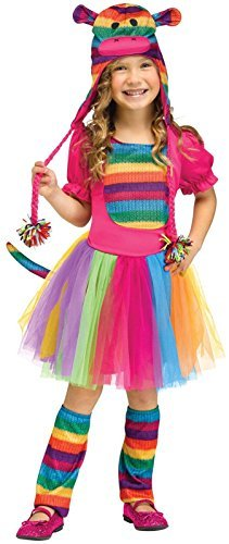 Rainbow Sock Monkey Costume for Toddlers - -