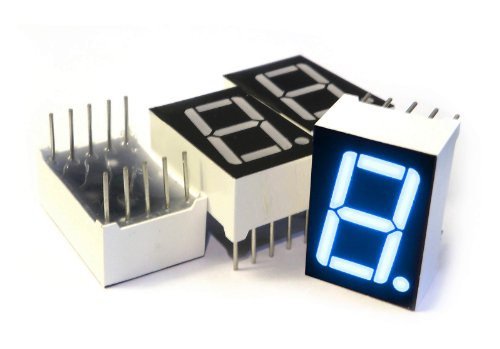 microtivity IS132 7-segment LED Display, 1 Digit Blue Common Anode (Pack of 4)