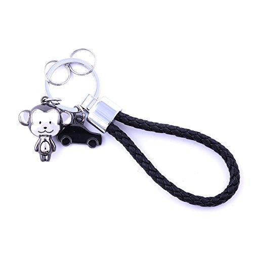 MILESI Fashion Style Monkey Mascot Couple Keychains Halloween Surprising (Halloween Tokens)
