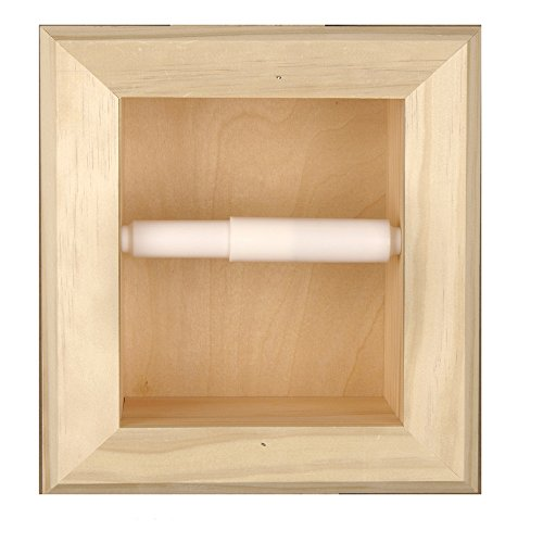 Florida Breeze Cabinets Contempo in-the Wall Toilet Tissue Holder, Unfinished Bare (Unfinished Pine Kitchen Cabinets)