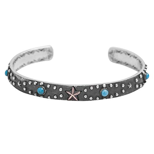 Daesar 925 Silver Bracelet For Women And Men Turquoise Star Unisex Bracelet Silver by Daesar