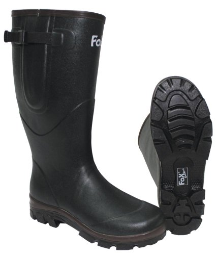 bottes en caoutchouc, kaki, doublure neoprene, Taille:45
