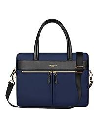 YiYiNoe Professional Macboook Handbag Shoulder Bag for Pro 15 Laptop Business Briefcase Messenger Bag for Women Blue