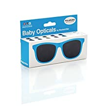 Mustachifier Baby Opticals Polarized Sunglasses, Blue , Ages 0-2