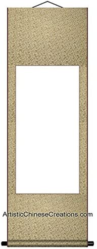 Chinese Art Supplies/Blank Wall Scrolls/Blank Chinese Painting & Calligraphy Wall Scroll - Premium Quality 100% Hand Made Wall Scroll