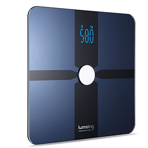 Lumsing Body Fat Weight Scale Digital Bluetooth 4.0 Scale Bathroom with Fitness APP (Blue