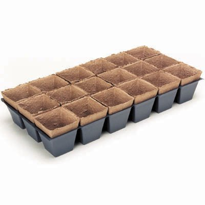 Jiffy Peat 3-1/2 '' X 4'' Pot Strip Sheets - 18 Pots Per Sheet - 31ct case