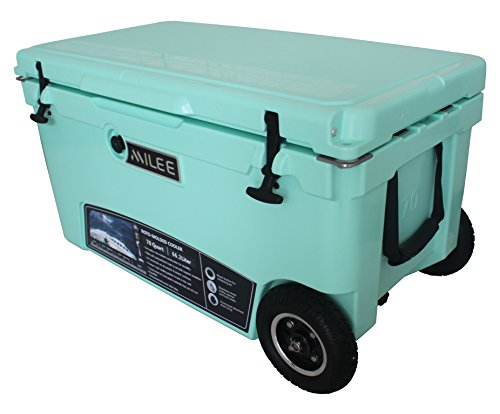 MILEE--Heavy duty Wheeled Cooler 70QT (Sea Foam Green)