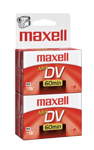 Maxell 298022 60 Minute Digital Mini Video Camcorder Tape - 4 Pack
