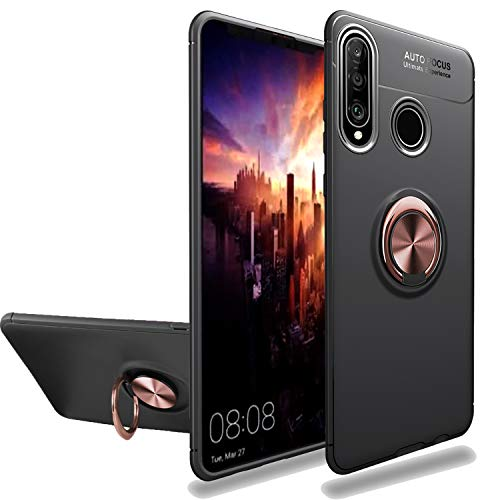 - Newseego Compatible with Huawei P30 Lite Case,360 Degree Adjustable Ring Stand,Frosting Thin Soft Protective and Finger Ring Holder Kickstand Fit Magnetic Car Mount for Huawei P30 Lite-Black+Rose