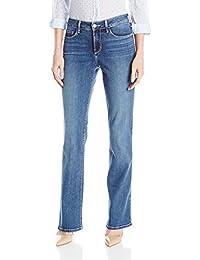 NYDJ womens Barbara Bootcut Jeans In Stretch Indigo Denim - Heyburn