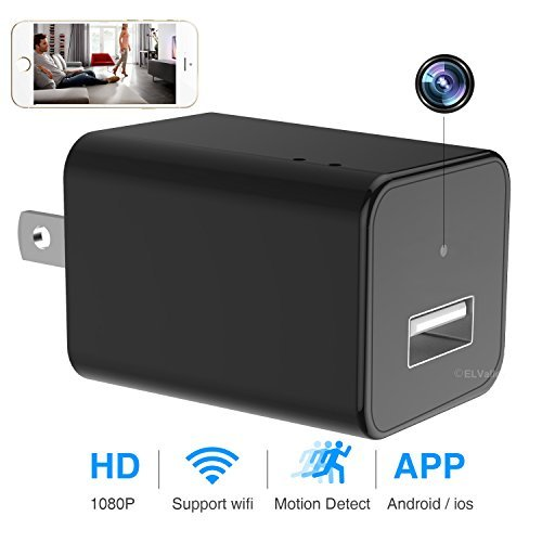 Price comparison product image Hidden Spy Camera 1080P HD USB Wall Charger Spy Camera Adapter WiFi Motion Detection