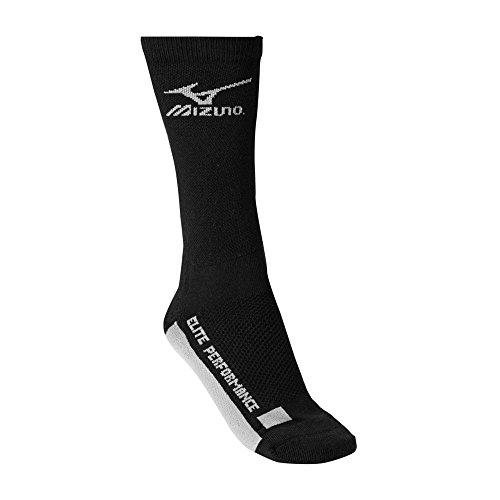 Mizuno Core Crew Sock, Black/Grey, Medium ()