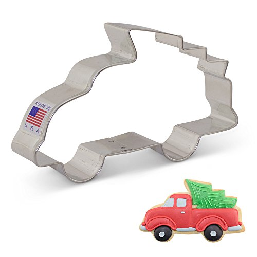 Truck/Vehicle with Christmas Tree- 5 Inch - Ann Clark - US Tin Plated Steel