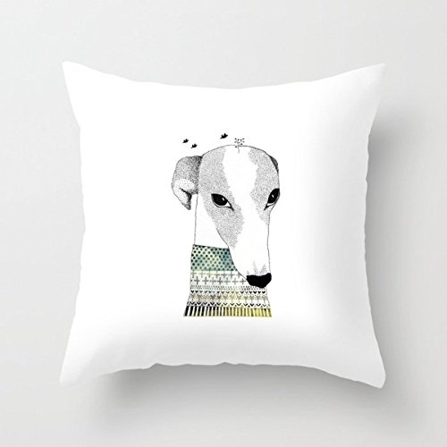 [Throw Cushion Covers Of Dogs 18 X 18 Inches / 45 By 45 Cm,best Fit For Couch,bar,chair,husband,boy Friend,home Office Two] (Snuggles Dog Costume)
