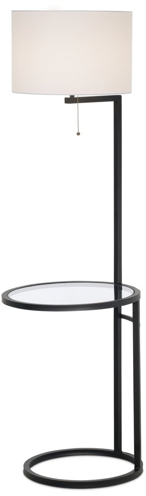 Space Saver Glass Tray Table Floor Lamp by 360 Lighting