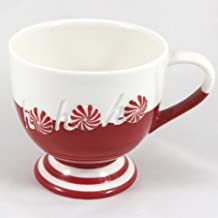 Starbucks Coffee Holiday 2007 Red & White HoHoHo Footed Cup 12 fl oz.