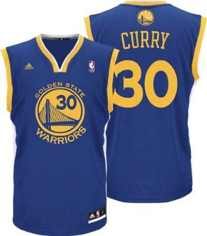 4c767cf4bc36 ... Stephen Curry Golden State Warriors Blue NBA Kids Revolution 30 Replica  Jersey (Kids 4) .