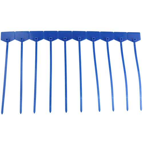 Ogrmar 100pcs Cable Label Mark Tag/Ethernet Wire Zip Ties Cable with Marking Label (Blue)