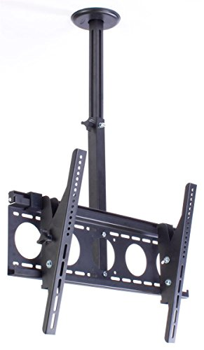 TV Ceiling Mount for 36' to 65' Flat Screen Monitors, Rotating/Tilting (Black)