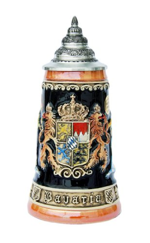 Bavaria Lion Crest German Beer Stein By King Werk - Bavaria Stein
