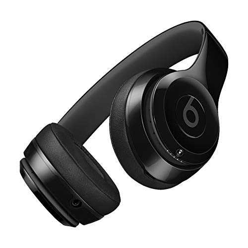 Beats by Dre S.O.L.O_3 Wireless On-Ear Headphones Foldable Bluetooth Over Ear Headphones Suitable for iPhone-iPad-iPod-Mp3 Players-iPhoneplus-iPhoneX-Android (Gloss Black)