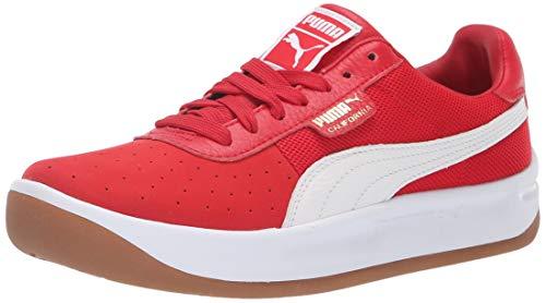 PUMA California Sneaker, Ribbon red White Team Gold, 7.5 M - Creeper Team