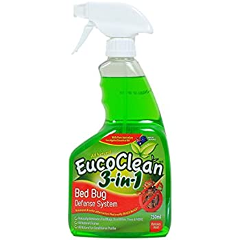 Amazon Com Eucoclean 3 In 1 Natural Bed Bug Spray Killer And