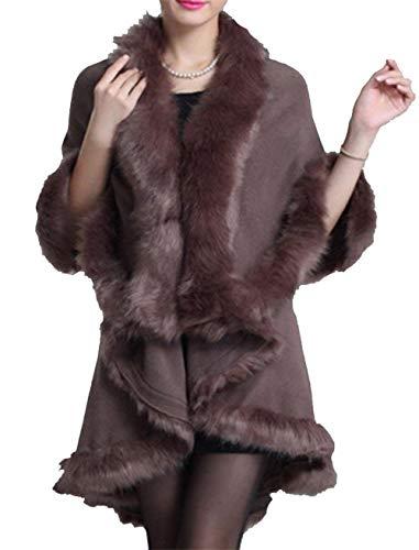 Prendas Invierno Elegante Unicolor Biege Lannister Piel Estolas Ropa Fashion Mujer Chal Irregular Polares De Moda Exteriores qHqfOx1gw