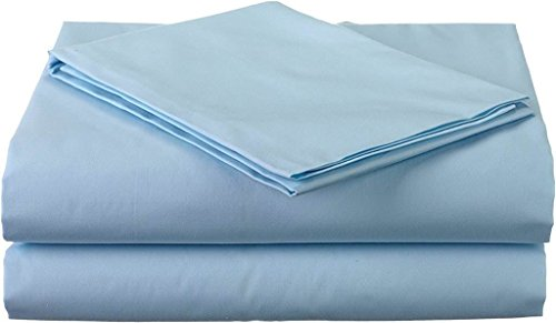 Bhoomi Impex Elegant Bedding 3 PCs Duvet set (1 Dover Cover & 2 Pillowcase) 400 Thread Count 100% Cotton Stain Resistant, Durable And Easy To Use (King Size, Light Blue Solid)