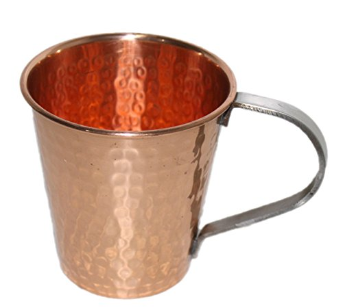 STREET CRAFT 100% Authentic Copper Moscow Mule Mug with Copper Moscow Mule Mugs Cups with Stainless Steel Handle Capacity 20 Ounce