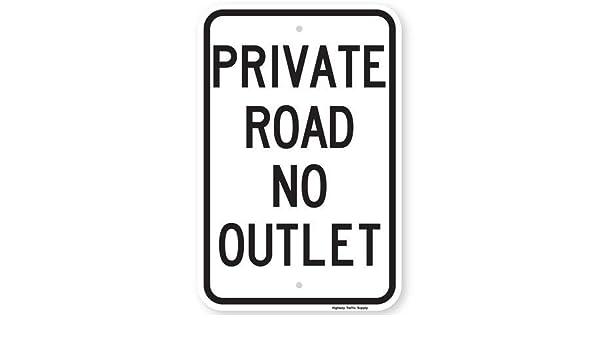 aersing privado carretera sin salida cartel divertido ...