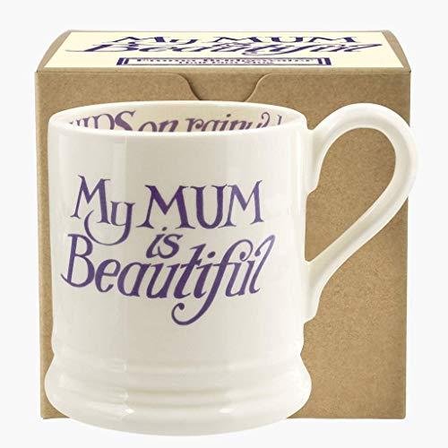 Emma Bridgewater Love & Wild Flowers Mum is Beautiful Half Pint Mug - 1/2 Pint Flowers Mug