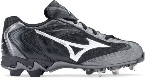 Mizuno Men's 9-Spike Lite Vapor G2 Low ( sz. 09.5, Black/Silver )