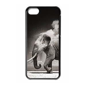 ALICASE Diy Hard Shell Case Elephant For Iphone 5C [Pattern-1]