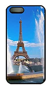Brian114 iPhone 5S Case, iPhone 5S Cases - Brand New PC Black iPhone 5s Covers Eiffel Tower And Fountain Slim & Flexible PC Case Cover for iPhone 5S