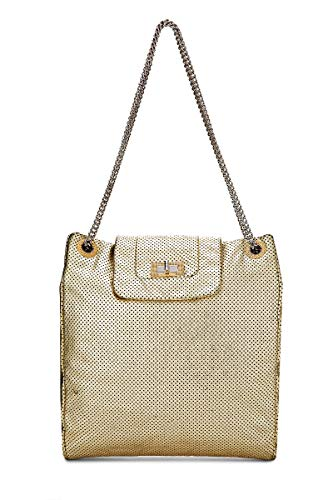 Chanel Large Tote - CHANEL Gold Perforated Leather Tote (Pre-Owned)