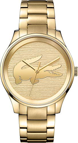 Lacoste Victoria Gold Dial Stainless Steel Ladies Watch 2001016