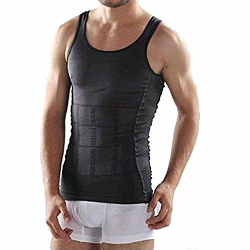 e482054d66 Veena 2018 Men Corset Body Slimming Wraps Tummy Shaper Vest Belly Waist  Girdle Shapewear Underwear Weight Loss Product Black S  Amazon.in  Clothing    ...