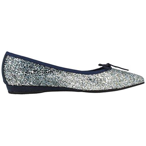 Color Zapatos Bailarina Marca para Mujer Modelo Plateado Plateado HUMAT 4 Zapatos HUMAT Bailarina Plateado Miriam Mujer para tfxqrzt