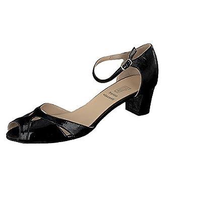 5a0c4890b83171 Franco Visconti N223 Ladies Leather Sandals Court Shoes Mood Blue   Amazon.co.uk  Shoes   Bags
