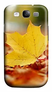 Single Yellow Leaf PC Custom Design Case Cover for Samsung Galaxy S3 / SIII / I9300