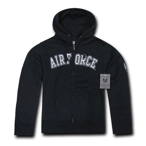 Rapiddominance US Air Force Full Zip Hoodie, Navy, Medium