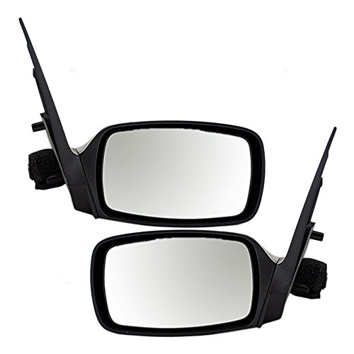 Driver and Passenger Power Side View Mirrors Ready-to-Paint Replacement for Ford Mercury F8RZ17682FA F8RZ17682EA ()