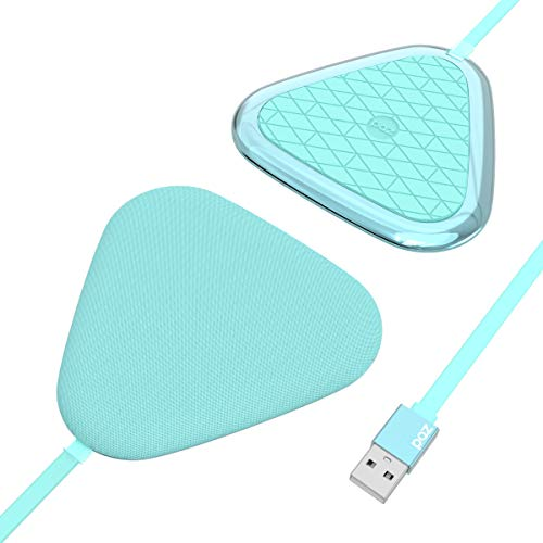 (Wireless Charger - PAZ Vivid Certified Qi Wireless Charging Pad, Compatible with All Qi-Enabled Devices, Turquoise)