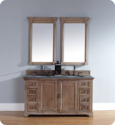 60 in. Double Vanity Cabinet in Driftwood by James Martin Furniture